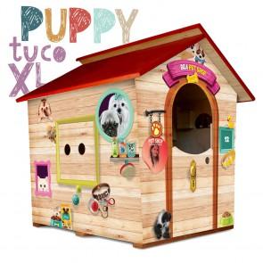 Casetta in legno da giardino per bambini XL Fantasia PUPPY
