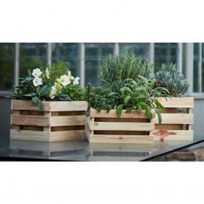 Cassette legno portafiori - legno di Abete Naturale 6 dimensioni