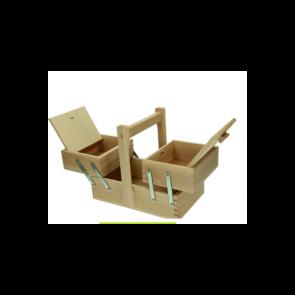 Cesto portacucito in legno cm. 25 x 15 x 22