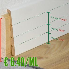 Coprizoccolo M.D.F Bianco 26x138 mm - CONFEZIONE DA 10 PEZZI