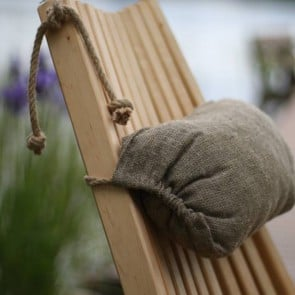 Cuscino lino ricamato per Ecochair 10 x 15 x 35 cm