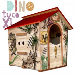 Casetta in legno da giardino per bambini XL Fantasia DINO