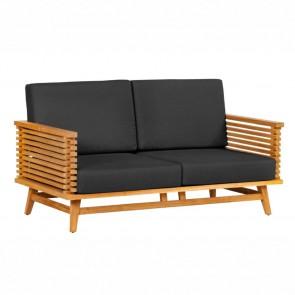 Divano da giardino Riverside in legno Teak - due sedute - 150 x 80 x 84h cm