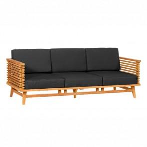Divano da giardino Riverside in legno Teak - tre sedute - 220 x 80 x 83h cm