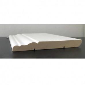 Battiscopa legno BIANCO mod Ducale - 100 x 13 mm - Asta 250 cm