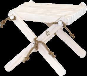 Sgabello Lilli Ecochair pino oliato bianco 49 x 54 x 45 cm