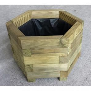 Fioriera BAC ESAGONALE in legno di pino impregnato 55 x 55 cm