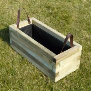 Fioriera legno BAC 90 x 40 sp. 4 cm con rivestimento- Garanzia 5 anni