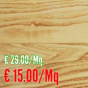 STOCK 13 MQ - Parquet vero legno FRASSINO verniciato 10 x 90 x 900 mm