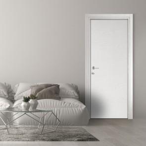 Porta a Battente Reversibile MICROTEC Mdf Frassino Bianco h. 210 cm - 4 Dimensioni