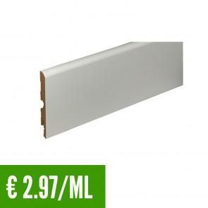 24 ML BATTISCOPA BIANCO MDF 9,5x98 mm - Passafilo -  Posa Clip CH23 - CONFEZIONE RISPARMIO