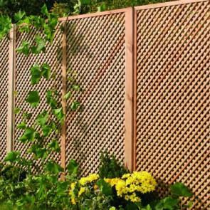 Grigliato frangivista PRIVACY 120 x 180 h. cm in legno impregnato - Maglia stretta 2 cm