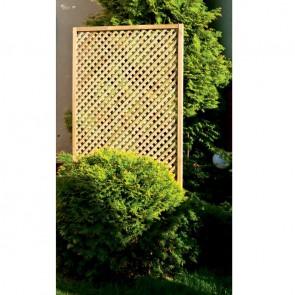 Grigliato frangivista PRIVACY 60 x 180 h. cm in legno impregnato - Maglia stretta 2 cm