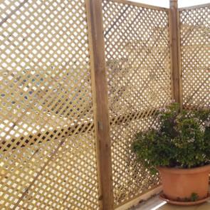 Grigliato frangivista PRIVACY 90 x 180 h. cm in legno impregnato - Maglia stretta 2 cm