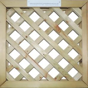 GRIGLIATI SU MISURA in legno trattato- maglia 5 cm