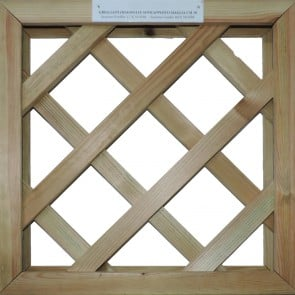 GRIGLIATI SU MISURA in legno trattato- maglia 10 cm