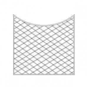 Grigliati ONDA concavi avvitati - 180 x 144/162 h. cm
