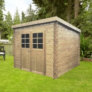 Casetta in legno HOF 248 x 248 x 191 spessore 19 pavimento COMPRESO