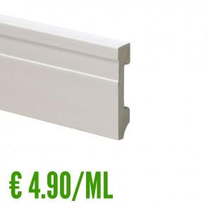 24 ML Battiscopa 100% IMPERMEABILE Bianco PVC 70 x 15 mm con passafili - CONFEZIONE RISPARMIO