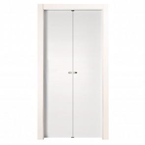 Porta a Soffietto EASY Melaminico Bianco Graffiato h. 210 cm - 4 Dimensioni
