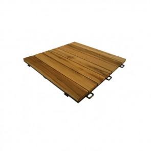 Mattonella da esterno autoposante LISTOPLATE legno Thermowood 55x55x3,3 cm