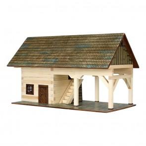 GIOCO COSTRUZIONE per bambini in legno Rimessa - 131 Pezzi