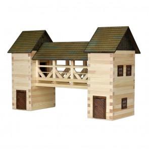 GIOCO COSTRUZIONE per bambini in legno Ponte - 259 Pezzi