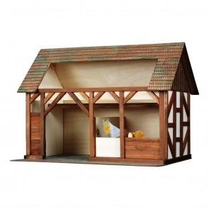 GIOCO COSTRUZIONE per bambini in legno Stalla - 154 Pezzi