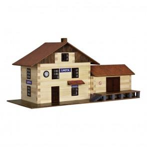 GIOCO COSTRUZIONE per bambini in legno Stazione ferroviaria - 213 Pezzi