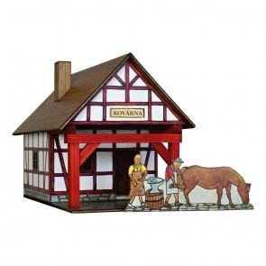 GIOCO COSTRUZIONE per bambini in legno Fucina a graticcio - 39 Pezzi