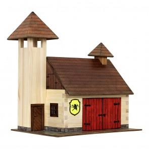 GIOCO COSTRUZIONE per bambini in legno Caserma dei pompieri - 128 Pezzi