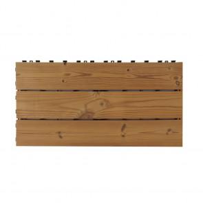 Piastrella per esterno autoposante SMARTDECK Thermowood 60x30x2,5 cm