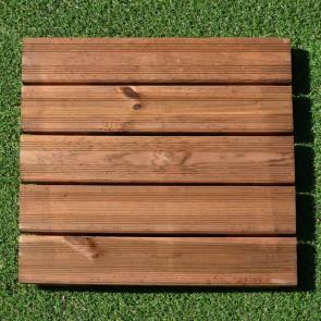 Mattonella zigrinata 50x50 Pino Impregnato vernciata BRONZO - Pavimento da esterno - Spessore 3,8 cm Extra Resistenza