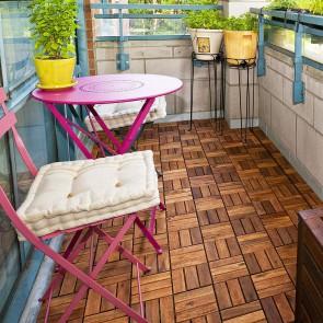 Piastrella da esterno in legno di ACACIA 30x30x2,4 cm - AUTOPOSANTE