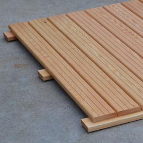 Mattonella in legno di LARICE Alta Qualità 100x100 cm - Autoposante Removibile