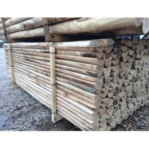 Mezzi Pali scortecciati in legno CASTAGNO durata 25 anni