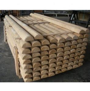 Mezzi Pali in legno CASTAGNO TORNITO con corona durata 25 anni