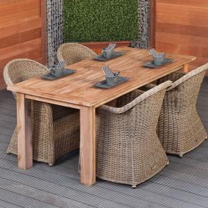 Tavolo in legno da esterno Moderno - legno teak - 3 dimensioni