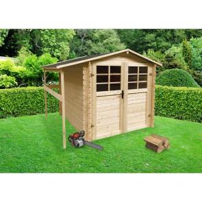 Casetta in legno SAT 265 x 205 x 207 cm  con pergolato
