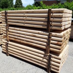 Pali torniti in legno CASTAGNO con corona durata 25 anni