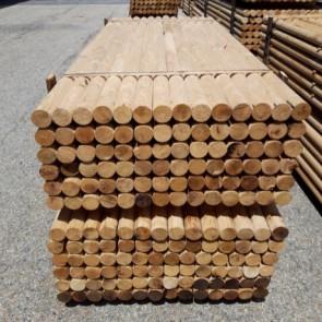 Pali torniti in legno CASTAGNO con corona durata 25 anni  - VENDITA A BANCALE