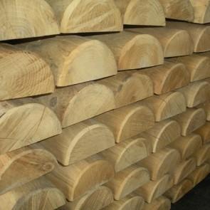 Mezzi Pali in legno CASTAGNO TORNITO con corona durata 25 anni - VENDITA A BANCALE
