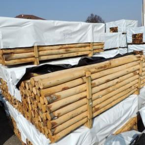 Pali scortecciati in legno CASTAGNO durata 25 anni