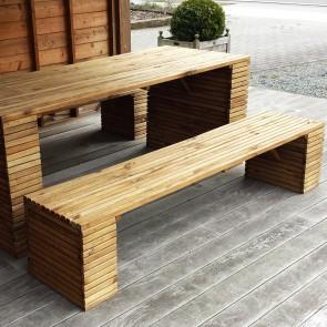 Panca BARCELONA legno di pino impregnato 200 x 44 x 43 h cm