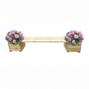 Panca da giardino con fioriera - legno di pino trattato 3 dimensioni