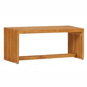 Panca in legno da esterno Riverside - 110 x 35 x 45,5h cm