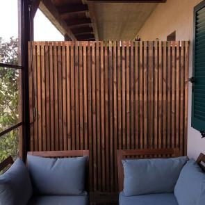 Pannello frangivista BARCELONA 180 x 180 h. cm in legno IMPREGNATO