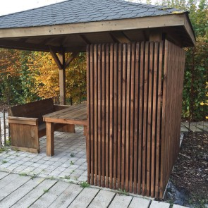 Pannello frangivista BARCELONA 90 x 180 h. cm in legno IMPREGNATO