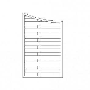 Frangivento ELEGANT ad onda terminale - 90 x 140/160 h. cm