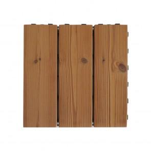 Piastrella per esterno autoposante SMARTDECK Thermowood 30x30x2,5 cm - Confezione 6 Pezzi
